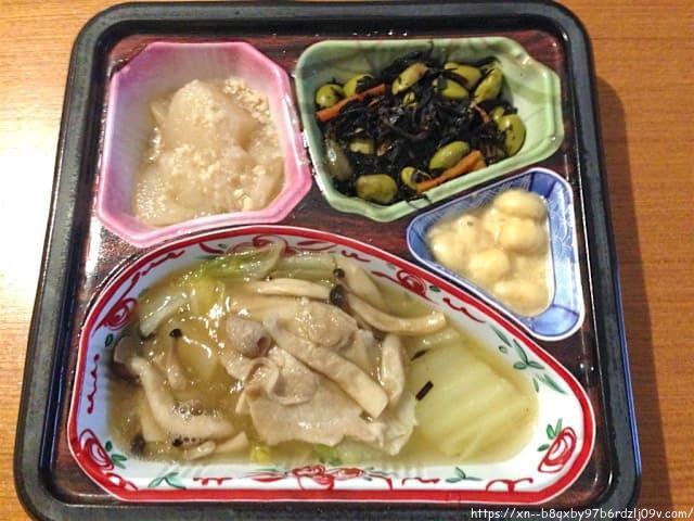 ほほえみ御膳 白菜ときのこの中華風あんかけセット