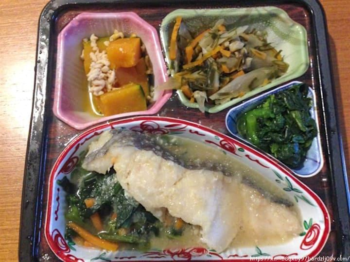 はなまる御膳 白身魚のねぎ生姜ソースセット