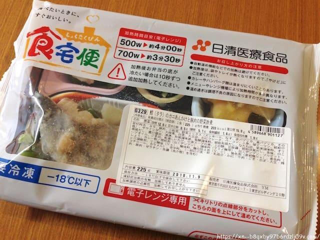 食宅便 鱈(タラ)のカニあんかけと豚肉の野菜旨煮