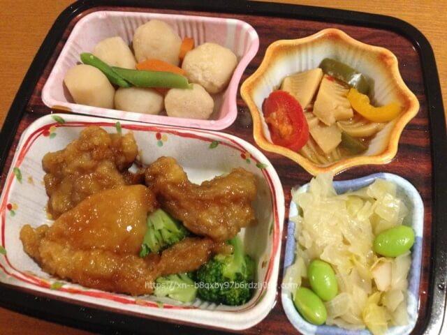 ベルーナグルメほほえみ御膳|鶏の唐揚げ甘酢ソースセット